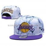 Casquette Los Angeles Lakers 9FIFTY Snapback Blanc Volet
