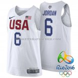 Maillot Authentique USA 2016 Jordan Blanc