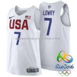 Maillot Authentique USA 2016 Lowry Blanc