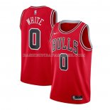 Maillot Chicago Bulls Coby White Icon Rouge