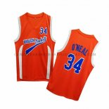 Maillot Uncle Drew Shaquille O'neal Harlem Buckets Orange