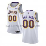 Maillot Los Angeles Lakers Personnalise Association 2018-19 Blanc