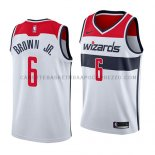 Maillot Washington Wizards Troy Brown Association 2018 Blanc