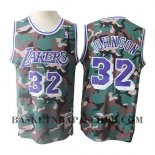 Maillot Los Angeles Lakers Magic Johnson Camouflage Vert