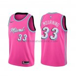 Maillot Miami Heat Alonzo Mourning Earned Rosa