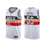 Maillot New Orleans Pelicans E'twaun Moore Earned Blanc