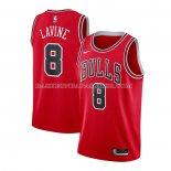 Maillot Chicago Bulls Zach Lavine No 8 Icon 2020-21 Rouge