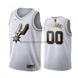 Maillot Golden Edition San Antonio Spurs Personnalise Blanc