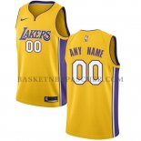Maillot Los Angeles Lakers Personnalise 2017-18 Jaune