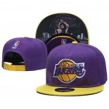 Casquette Los Angeles Lakers Kobe Bryant 9FIFTY Snapback Volet Jaune