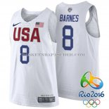 Maillot Authentique USA 2016 Barnes Blanc