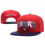 Casquette Atlanta Hawks Mitchell&Ness Leather Rouge