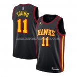 Maillot Atlanta Hawks Trae Young Statement 2020-21 Noir
