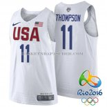 Maillot Authentique USA 2016 Thompson Blanc