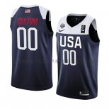 Maillot USA Personnalise 2019 FIBA Basketball World Cup Bleu