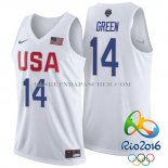 Maillot USA 2016 Green Blanc