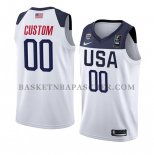 Maillot USA Personnalise 2019 FIBA Basketball World Cup Blanc
