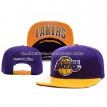 Casquette Los Angeles Lakers leather Purpura Or