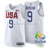 Maillot Authentique USA 2016 DeRozan Blanc