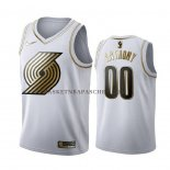 Maillot Golden Edition Portland Trail Blazers Carmelo Anthony Blanc