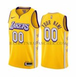 Maillot Los Angeles Lakers Personalizad Ville 2019-20 Jaune