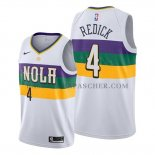 Maillot New Orleans Pelicans J.j. Redick No 4 Ville Blanc