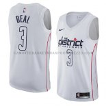 Maillot Washington Wizards Bradley Beal Ciudad 2018 Blanc