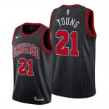 Maillot Chicago Bulls Thaddeus Young Statement Edition Noir