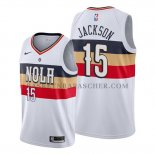 Maillot New Orleans Pelicans Frank Jackson Earned Blanc