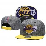 Casquette Los Angeles Lakers 9FIFTY Snapback Gris Jaune