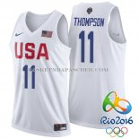 Maillot USA 2016 Thompson Blanc