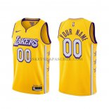 Maillot Los Angeles Lakers Personnalise Ville 2019-20 Jaune