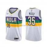 Maillot New Orleans Pelicans Christian Wood Ville Blanc