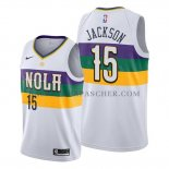 Maillot New Orleans Pelicans Frank Jackson Ville Edition Blanc