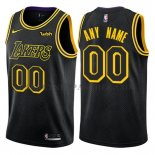 Maillot Los Angeles Lakers Personnalise 2017-18 Noir