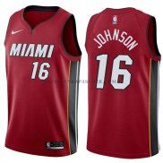Maillot Miami Heat James Johnson Statehombret 2017-18 Rouge