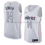 Maillot Washington Wizards Jason Smith Ciudad 2018 Blanc
