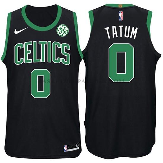 466e9283c68b4 Maillot de basket nba Boston Celtics Jayson Tatum 2017-18 Noir pas ...